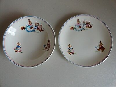 Vintage - Bunny By Crown Lynn - Plate & bowl - Pat. No. 778 New Zealand