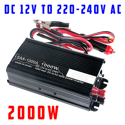 Boat Car 2000W converter power inverter DC 12V to AC 220V-240V inverter