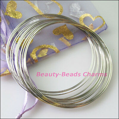 1Roll Dull Silver Plated Bangle Bracelet Chain 20Circles / Roll
