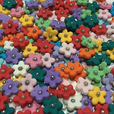 Edible Sugar Flowers X 50 Mixed Colours Mini Blossoms Cake Toppers