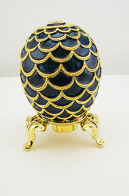 Faberge Pinecone Egg Figurine (comes with stand)
