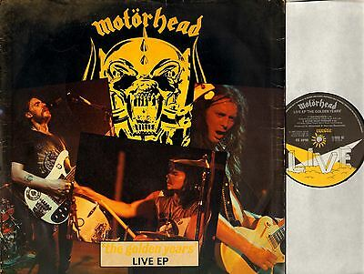 "MOTORHEAD the golden years: live ep 12"" PS EX/G 12 BRO 92 hard rock heavy metal"