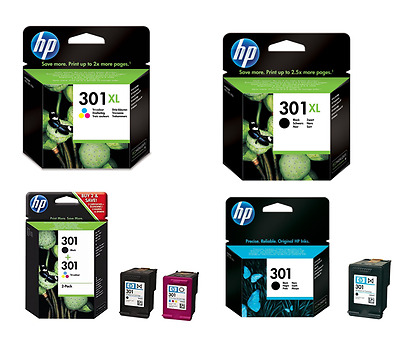 Genuine HP 301XL Ink Cartridges all Variations FREE Postage Offer