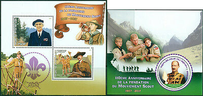 Boy Scouts Scouting Baden-Powell Benin MNH stamp set