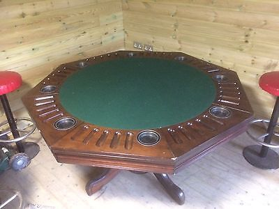 Stunning 3 In 1 Solid Wood Poker / Cards Table