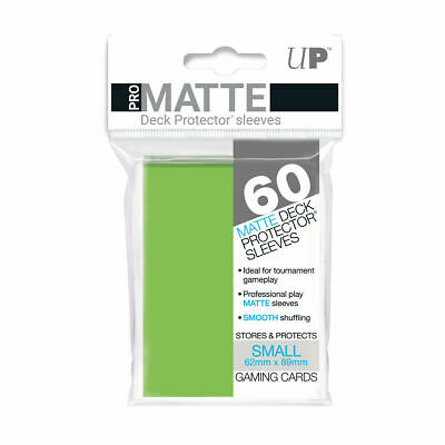 Ultra Pro Deck Protector Small Matte 60 Card Sleeves LIME GREEN YuGiOh Vanguard