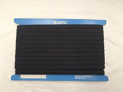 12mm BLACK KNITTED ELASTIC : 50 METRE CARD : #MD01