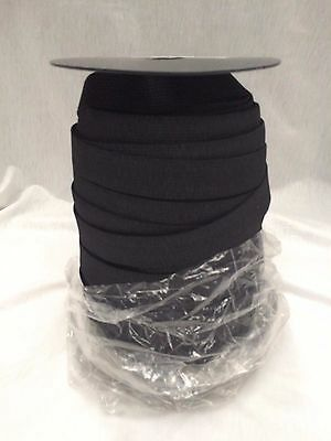 20mm BLACK KNITTED ELASTIC : 75 METRE ROLL : #MD03