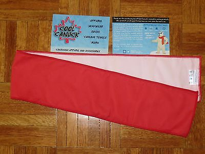 Lot RED / WHITE  COOL CANUCK Cooling  Cloth Towel  5 x 40 Sports Fishing Camping