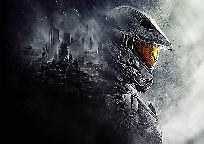 Halo - A4 Glossy Poster -TV Film Movie Free Shipping #733