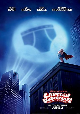 Captain Underpants - A4 Glossy Poster -TV Film Movie Free Shipping #874
