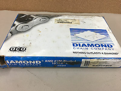 NEW DIAMOND ROLLER CHAIN 100 RIV Riveted 10Ft With Connecting Link