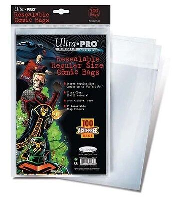 Ultra Pro 100 Count Resealable Regular Size Comic Storage Bags