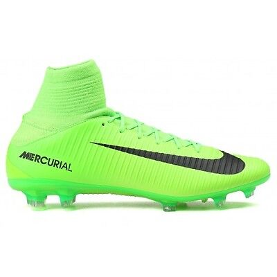 size 40 6d5ad cb1a3 Nike Mercurial Veloce III DF FG Green Mens Soccer Cleats 831961 303 Multi  Sizes
