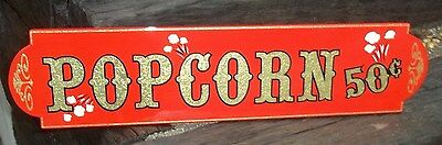 Old Fashioned POPCORN Sign,Home Theater Gold Leaf and Red, Nice Custom Sign