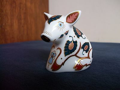 Royal Crown Derby 'Snuffle' The Pig. Collectors Guild Paperweight.