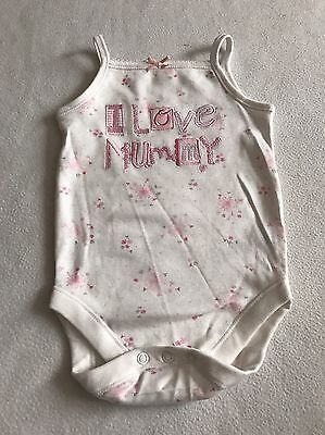 Baby Girls Clothes 6-9  Months - Cute Mummy Vest Top -