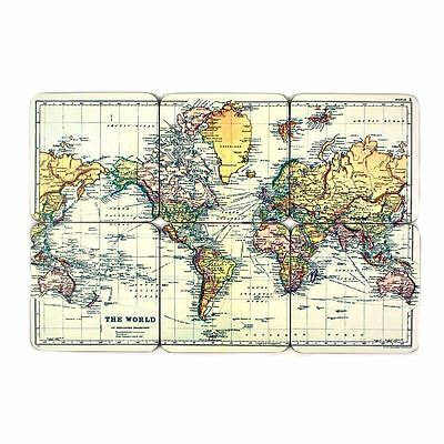 Man of The World Map Set of 6 Retro Styler Coasters