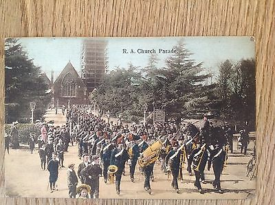 Postcard R A Church Parade  by Inge & Co