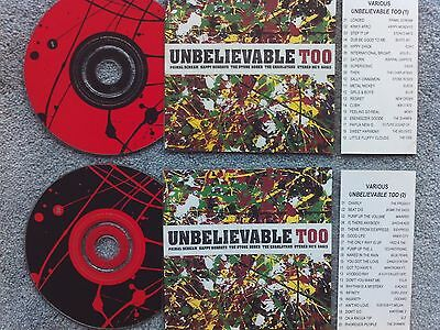 Unbelievable Too  2 x Jukebox CDs for NSM Jukeboxes + matching Title Cards