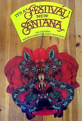 Santana Record Music Store Promotional Display Festival Double Sided Poster Sign
