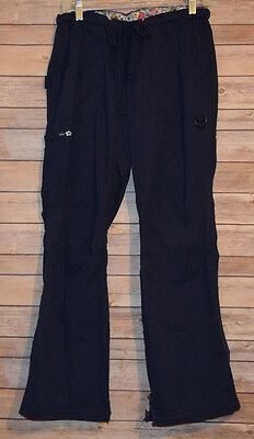 KOI Scrubs Pants Nurse S Navy Bl Vet Uniform Cargo pockets Womens Kathy Peterson
