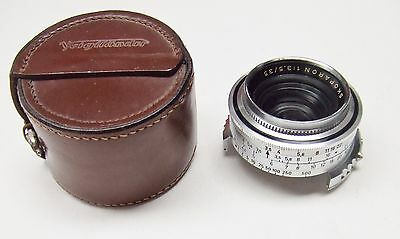 VOIGTLANDER f3.5 35mm SKOPARON FOR PROMINENT RANGEFINDER CAMERA