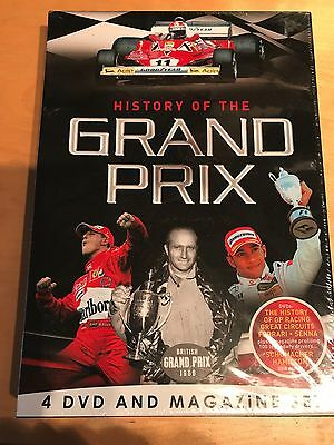 History Of The Grand Prix - FOUR DVD Box Set with MAGAZINE - BRAND NEW/SEALED FP