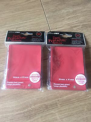 Ultra Pro Deck Protector Sleeves X2 (Red)