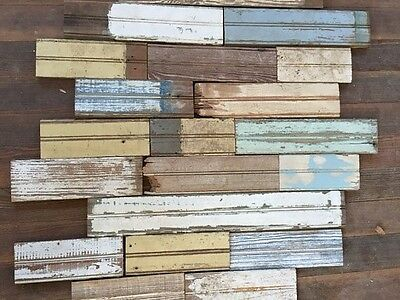Salvaged Bead Board, Small Lot with Random Colors, Reclaimed Wood, Vintage House