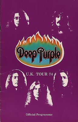 Deep Purple 1974 Burn U.k. Tour Concert Program Book / Ritchie Blackmore