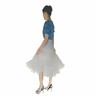 "Shimaly Womens 50s Vintage Rockabilly Petticoat 26"" Ivory Underskirt XL,Ivory"