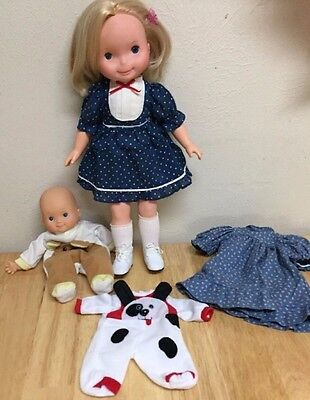 Fisher Price Mandy MY FRIEND DOLL w/extra dress and small baby doll extra outfit