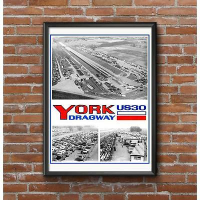 York US 30 Dragway Poster - Historic NHRA Pennsylvania Drag Strip