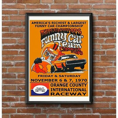 Orange County Manufacturers Funny Car Championships 1970 Poster - OCIR