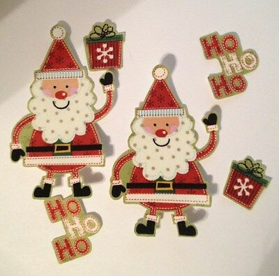 Christmas Ho Ho Santas  - Iron On Fabric Appliques - Craft Show Projects