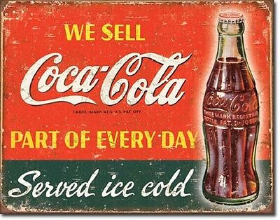Part of Every Day Coca Cola ad TIN SIGN vintage bar decor metal poster DS#1820