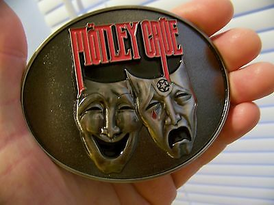 NEW NOS Authentic Vintage 2012 MOTLEY CRUE INC. Belt Buckle THEATRE OF PAIN Rare