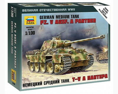 Zvezda Models 1/100 (Snap-Fit) WWII German Medium Tank Pz.Kpfw.V Panther Ausf.A