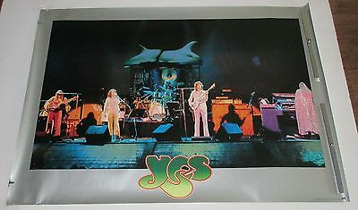 YES original JAPAN PROMO ONLY 1970s  POSTER Jon Anderson CHRIS SQUIRE R.Wakeman