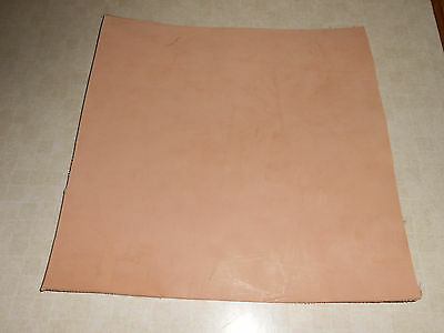 """(1) 6/7 oz Hermann Oak Vegetable Tanned Tooling Leather 12"""" by 12"""" Square."""