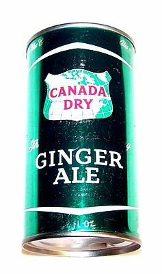 Canada Dry Ginger Ale Juice Pull Tab Soda Pop Top Can A1+ Flat Coke Beer Zip Ofr