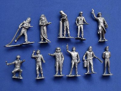 """Cabo Cañaveral Marx Toys Recast 11 Characters 2"""" 1960's 1/32 Detailed (16 Figur)"""