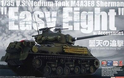 "Asuka Model 1/35 US Medium Tank M4A3E8 Sherman ""Easy Eight"" with Accessories"