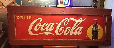 Vintage 1946Coca Cola Yellow Spot Coke Sign Vintage Classic Beautiful patina