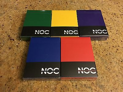 NOC Playing Cards - V1 - SOLD OUT - OUT OF PRINT - RARE SET - USPCC