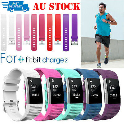 Fitbit Charge 2 Strap Bracelet Replacement Silicone Sports Watch Band Wristband