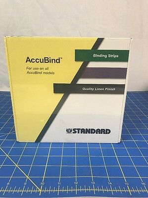 """Accubind Binding Strips Standard 30mm White Bookbinding Size C 1 3/16"""" NEW"""