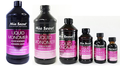 Mia Secret Liquid Monomer 1oz / 2oz / 4oz / 8oz / 16 oz /32 oz -CHOOSE YOUR SIZE