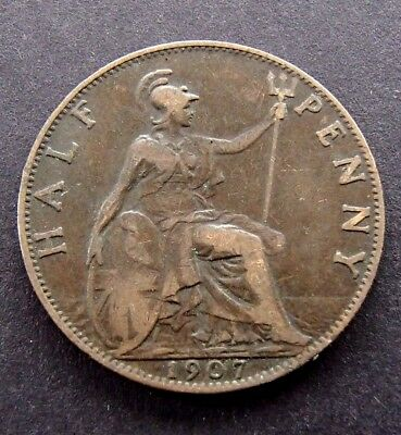 1907 English UK Half Penny - Edward VII- 681